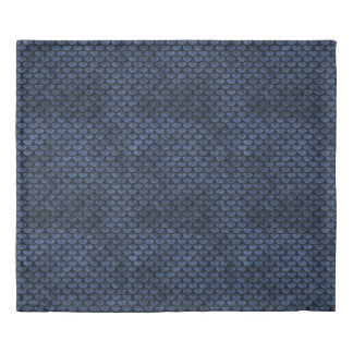 SCALES3 BLACK MARBLE & BLUE STONE (R) DUVET COVER