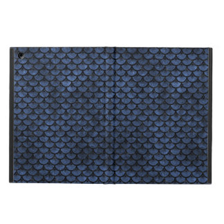 SCALES3 BLACK MARBLE & BLUE STONE (R) iPad AIR CASE