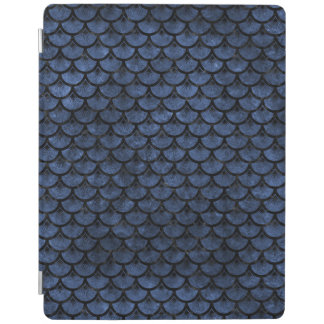 SCALES3 BLACK MARBLE & BLUE STONE (R) iPad COVER