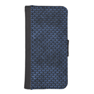 SCALES3 BLACK MARBLE & BLUE STONE (R) iPhone SE/5/5s WALLET CASE