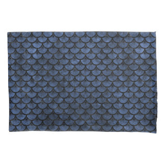 SCALES3 BLACK MARBLE & BLUE STONE (R) PILLOWCASE