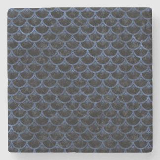 SCALES3 BLACK MARBLE & BLUE STONE STONE COASTER