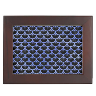 SCALES3 BLACK MARBLE & BLUE WATERCOLOR KEEPSAKE BOX