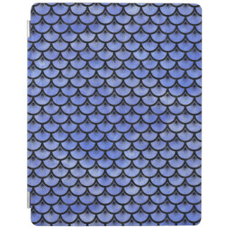 SCALES3 BLACK MARBLE & BLUE WATERCOLOR (R) iPad COVER