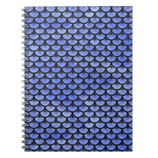 SCALES3 BLACK MARBLE & BLUE WATERCOLOR (R) NOTEBOOK