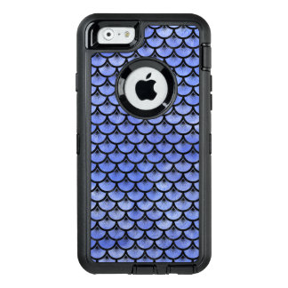 SCALES3 BLACK MARBLE & BLUE WATERCOLOR (R) OtterBox DEFENDER iPhone CASE