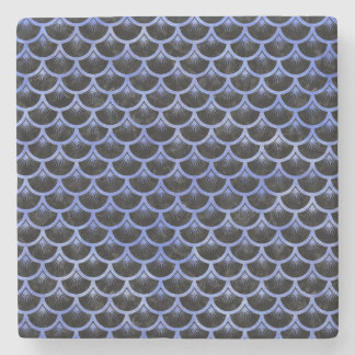 SCALES3 BLACK MARBLE & BLUE WATERCOLOR STONE COASTER