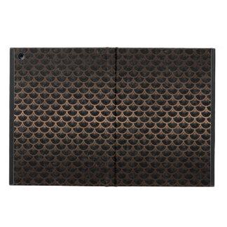 SCALES3 BLACK MARBLE & BRONZE METAL iPad AIR CASE