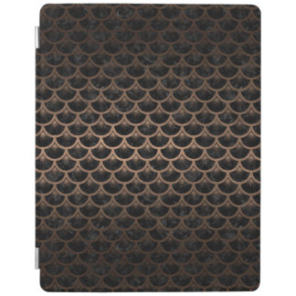 SCALES3 BLACK MARBLE & BRONZE METAL iPad COVER