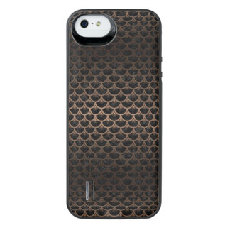 SCALES3 BLACK MARBLE & BRONZE METAL iPhone SE/5/5s BATTERY CASE