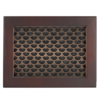 SCALES3 BLACK MARBLE & BRONZE METAL KEEPSAKE BOX