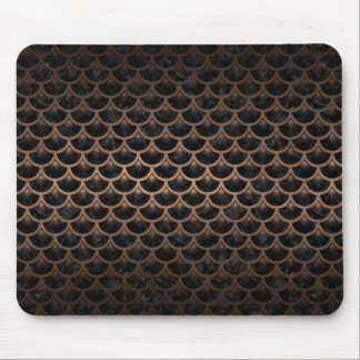 SCALES3 BLACK MARBLE & BRONZE METAL MOUSE PAD