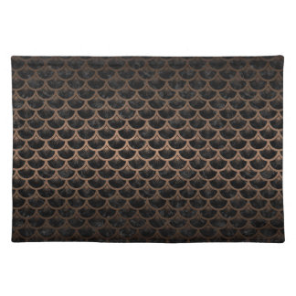 SCALES3 BLACK MARBLE & BRONZE METAL PLACEMAT