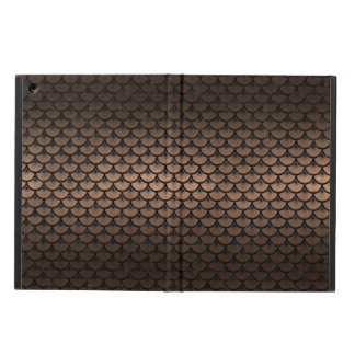 SCALES3 BLACK MARBLE & BRONZE METAL (R) iPad AIR COVER