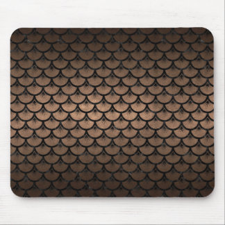 SCALES3 BLACK MARBLE & BRONZE METAL (R) MOUSE PAD