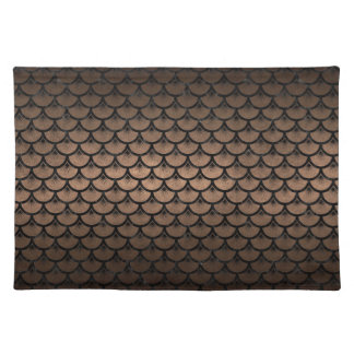 SCALES3 BLACK MARBLE & BRONZE METAL (R) PLACEMAT
