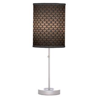 SCALES3 BLACK MARBLE & BRONZE METAL (R) TABLE LAMP