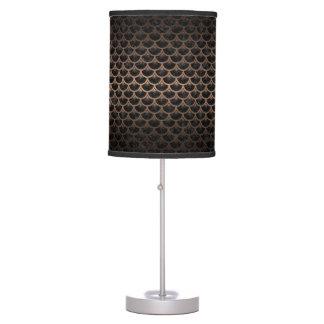 SCALES3 BLACK MARBLE & BRONZE METAL TABLE LAMP
