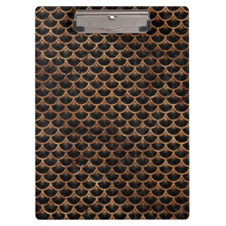SCALES3 BLACK MARBLE & BROWN STONE CLIPBOARD