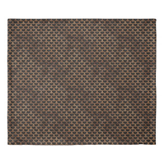 SCALES3 BLACK MARBLE & BROWN STONE DUVET COVER