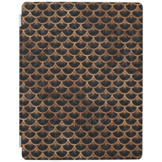 SCALES3 BLACK MARBLE & BROWN STONE iPad COVER