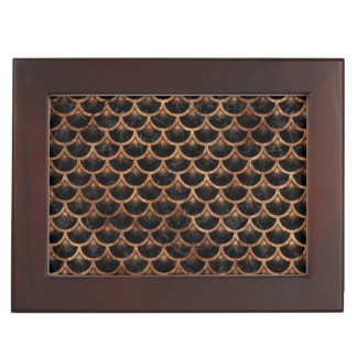 SCALES3 BLACK MARBLE & BROWN STONE KEEPSAKE BOX