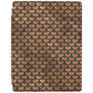 SCALES3 BLACK MARBLE & BROWN STONE (R) iPad COVER
