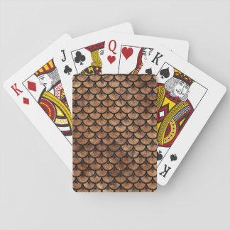 SCALES3 BLACK MARBLE & BROWN STONE (R) PLAYING CARDS