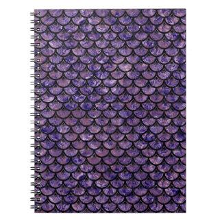 SCALES3 BLACK MARBLE & PURPLE MARBLE (R) NOTEBOOK