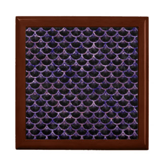 SCALES3 BLACK MARBLE & PURPLE MARBLE TRINKET BOX