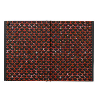 SCALES3 BLACK MARBLE & RED MARBLE COVER FOR iPad AIR