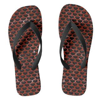 SCALES3 BLACK MARBLE & RED MARBLE FLIP FLOPS