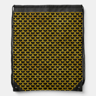 SCALES3 BLACK MARBLE & YELLOW MARBLE DRAWSTRING BAG