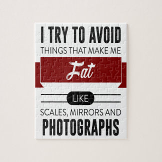 Scales Mirrors Photographs Make Me Fat Jigsaw Puzzle