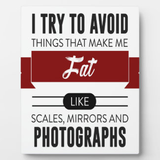 Scales Mirrors Photographs Make Me Fat Plaque
