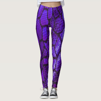 Scales of Fashion Leggings in Grape Crush
