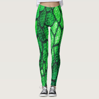 Scales of Fashion Leggings in Green Eyed Monster