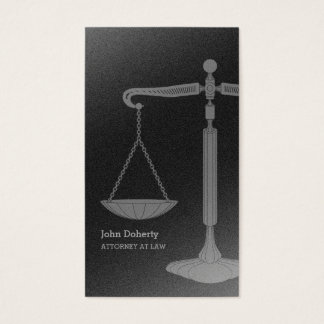 Scales of Justice | Attorney at Law Business Card