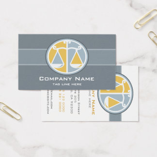 Scales of Justice Attorney Business Card