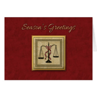 Scales of Justice, Attorney, Holiday Greeting Card