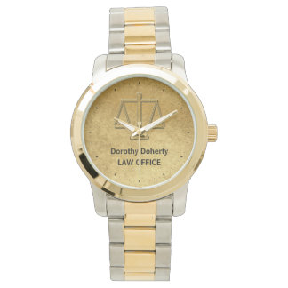 Scales of Justice   Elegant Personalizable Watch