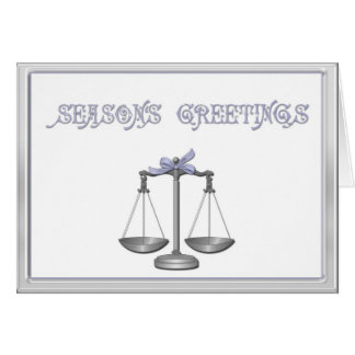 Scales of Justice Holiday Greeting Card