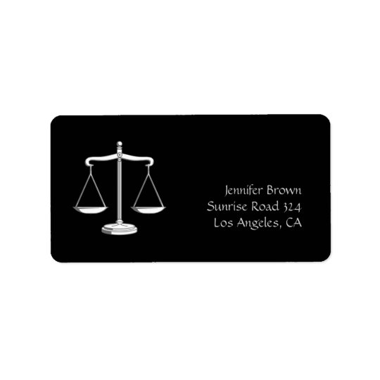 Scales of Justice - Label