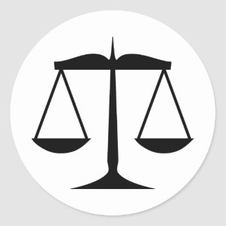 Scales of Justice (Law) Classic Round Sticker