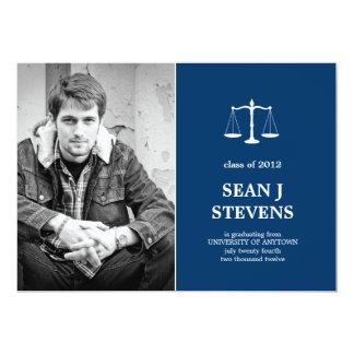 Scales of Justice Law Graduation Photo Invitation