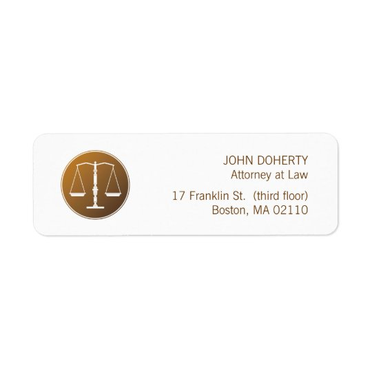 Scales of Justice Law Label