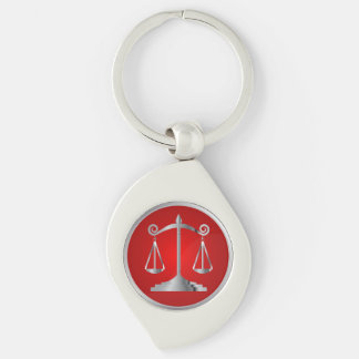 Scales of Justice | Law | Lawyer | Red Keychain