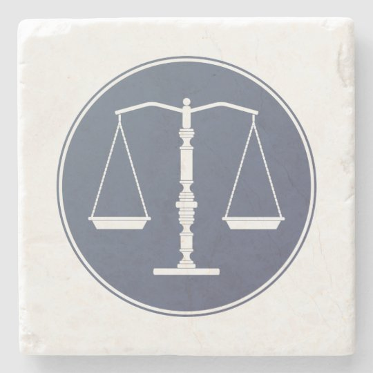 Scales of Justice | Lawer Gifts Stone Beverage Coaster