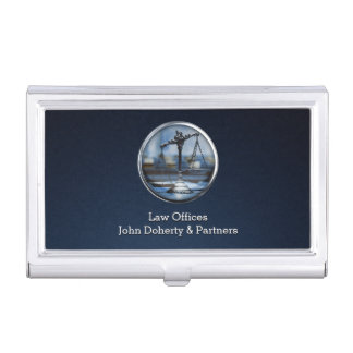 Scales of Justice   Lawyer Business Card Holder