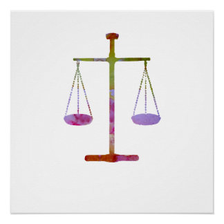 Scales of justice perfect poster